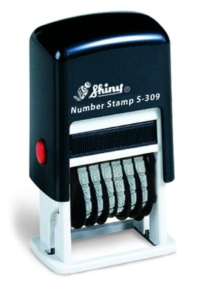 SELF-INKING NUMBER STAMP SHINY S-309 /  6 digits
