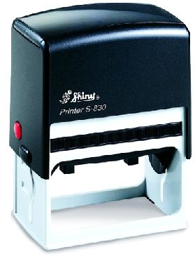 AUTOMATIC RECTANGULAR STAMP SHINY S-834