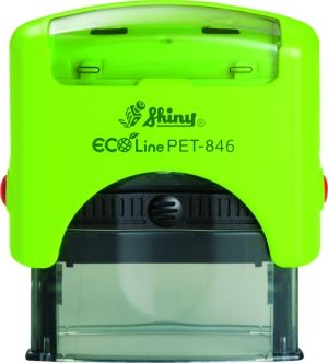 AUTOMATIC STAMP SHINY ECO LINE PET 843 size 18x47 mm