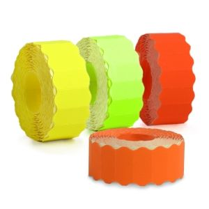 6 LABEL ROLLS FOR SINGLE ROW PRICE GUNS 26х12/1400