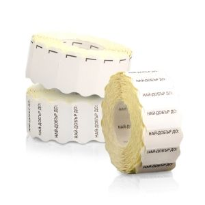 6 LABEL ROLLS FOR SINGLE ROW PRICE GUNS 26х12/1400 with TEXT