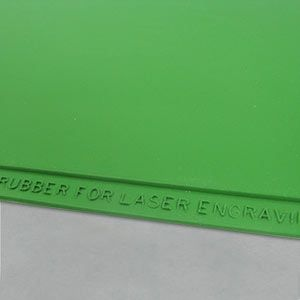 LASER RUBBER SHEET SHINY SLR-300 - ECO /green/