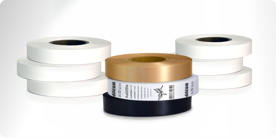 Textile ribbons for clothing labels