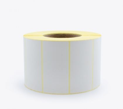 BLANK WHITE SELF ADHESIVE LABELS ON ROLLS, 100x50 mm, 2500 labels