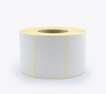 BLANK WHITE SELF ADHESIVE LABELS ON ROLLS, 100x72 mm, 2000 labels