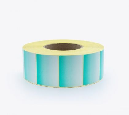 COLOURED SELF ADHESIVE LABEL ROLLS, GRADIENT GREEN, 58x43 mm, 3000 labels