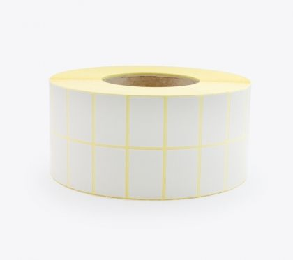 BLANK WHITE SELF ADHESIVE LABELS ON ROLLS, 38x25 mm, 10000 labels
