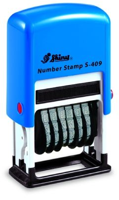 AUTOMATIC NUMBER STAMP SHINY S-309 /  6 digits